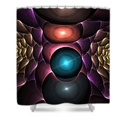 Copper Roses Shower Curtain