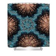 Copper Shells Shower Curtain