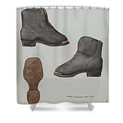 Copper-toed Child's Shoe Shower Curtain