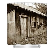 Copper Valley Shack Shower Curtain