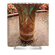 Copper Water Fountain Shower Curtain