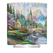 copy of Dogwood Chapel Shower Curtain
