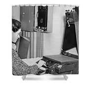 Copying Archival Documents Shower Curtain