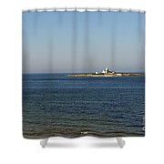 Coquet Island And Lighthouse Shower Curtain