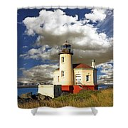 Coquile Light, Oregon Shower Curtain