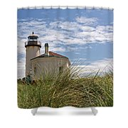 Coquille Lighthouse H Shower Curtain