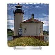 Coquille Lighthouse V Shower Curtain