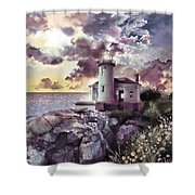 Coquille River Lighthouse 2 Shower Curtain