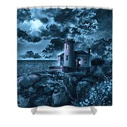 Coquille River Lighthouse 3 Shower Curtain