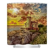 Coquille River Lighthouse 4 Shower Curtain