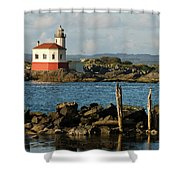 Coquille River Lighthouse Bandon Oregon Shower Curtain