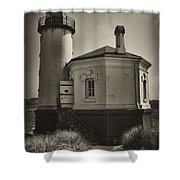 Coquille River Lighthouse Shower Curtain