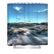 Coquina Beach, Cape Hatteras, North Carolina Shower Curtain