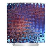 Coral Abstract Shower Curtain
