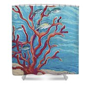 Coral Assets Shower Curtain