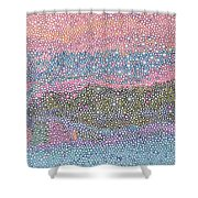 Coral Blues  Shower Curtain