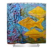 Coral Chorale Shower Curtain