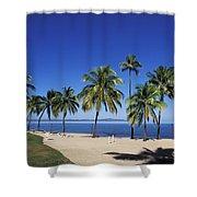 Coral Coast Palms Shower Curtain