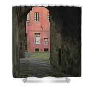 Coral Corridor Siena Italy Shower Curtain