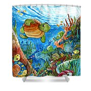 Coral Dreams Shower Curtain