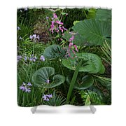 Coral Flower Path Shower Curtain