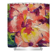 Coral Glad Shower Curtain