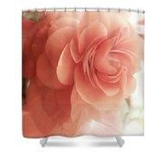 Peach Petals Glow Shower Curtain