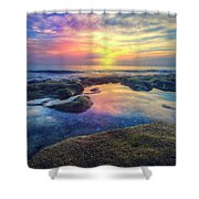 Coral Pools Shower Curtain