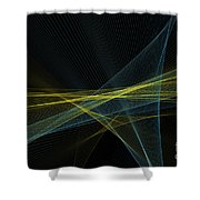 Coral Reef Computer Graphic Line Pattern Shower Curtain