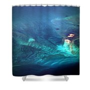 Coral Reef From 28000 Feet Shower Curtain