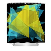 Coral Reef Polygon Pattern Shower Curtain