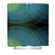 Coral Reef Semi Circle Background Horizontal Shower Curtain