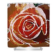 Coral Rose In The Mix Shower Curtain