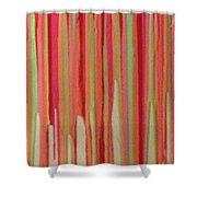 Coral Stripe  Shower Curtain