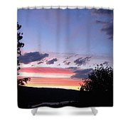 Coral Sunset Shower Curtain