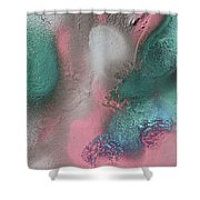Coral, Turquoise, Teal Shower Curtain by Julia Fine Art