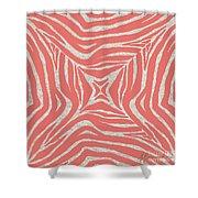 Coral Zebra Shower Curtain