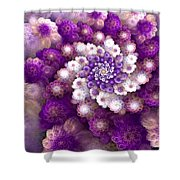 Coraled Blooms Shower Curtain