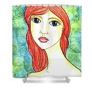 Coralia, The Mermaid Shower Curtain