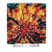 Corals Under The Sea Abstract Color Art Shower Curtain