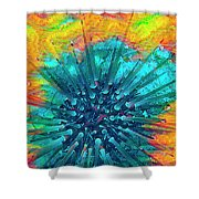 Corals Under The Sea Color Burst Shower Curtain
