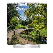 Corbel Arch Bridge Japanese Garden Maymont Shower Curtain