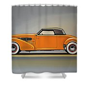 Cord 810 1937 Painting Shower Curtain