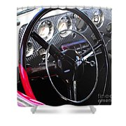 Cord Phaeton Dashboard Shower Curtain