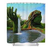 Corey Rockafeler - Mother Nature Fountain Shower Curtain