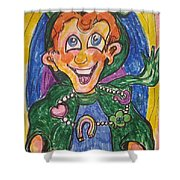 Corey The Lepperchaun Lucky Charms Shower Curtain