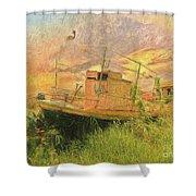 Corfu 25 High And Dry Shower Curtain