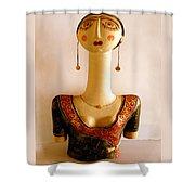 Corfu Lady Shower Curtain