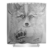 Corgi Pup Shower Curtain