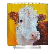 Coriander The Cow Shower Curtain